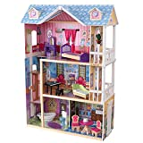 KidKraft My Dreamy Wooden Dollhouse with Lights and Sounds, Elevator and 14 Accessories ,Gift for Ages 3+