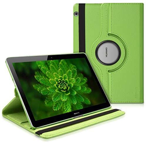 kwmobile Schutzhülle kompatibel mit Huawei MediaPad T3 10 - Hülle 360° Tablet Cover Hülle Grün