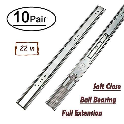 LONTAN 4502S3-22 Full Extension Drawer Slides