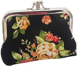 Canvas Cash Coin Purse,Scottish Tartan Print Make Up Bag Zipper Small Purse Wallets