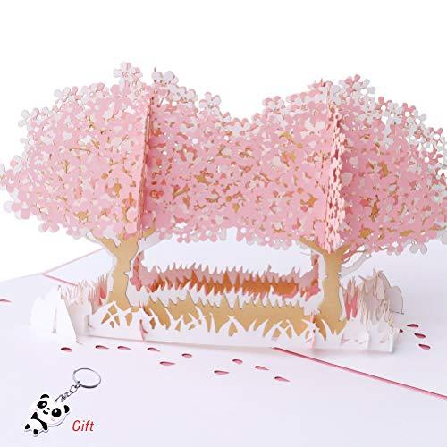 グリーティングカード 誕生日カード バースデーカード 3D立体的桜カード 誕生日/結婚祝い/記念日/感謝状 可...