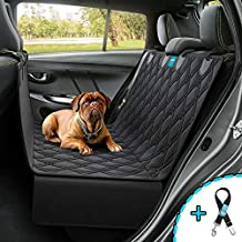 Dog Backseat Hammock Seat Cover Dog car Back seat Cover Waterproof Nonslip Rubber Backing Protector Washable Durable Luxury Material Great for Trucks Cars SUV pet seat Belt Leash Included