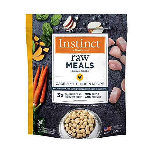 Instinct Freeze Dried Raw Meals Grain Free Cage Free Chicken Recipe Dog Food by Nature's Variety, 25 oz. Bag