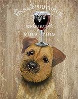ファッションキャンバス絵画 子供のベッドルームの家の装飾の写真のためにワインかわいい犬ウォールドローイングキャンバスシート記載のポスター (Color : 011, Size (Inch) : 50x70cm No Framed)