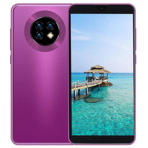 MIQOO S20 Smartphone de 6.1 pulgadas, desbloqueo facial, tarjetas SIM dobles, teléfono móvil con memoria de 3+32G, batería de 4800 mAh, cámara dual de 800W/1300W, soporte de expandida de 128 GB (Rosa)