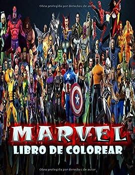 Marvel Libro Para Colorear  Marvel Libro Para Colorear Para Niños Y Adultos Color +50 Personajes Favoritos De Marvel Mundo  Spanish Edition