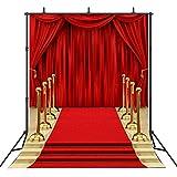 Sensfun Red Carpet Curtain Backdrop for...