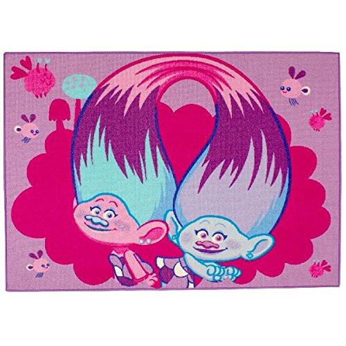 Associated Weavers Kids Corner 634083- Alfombra de decoración de Terciopelo Azul, 95x 133x 1,5cm, Color Rosa, Velur, Rose Bleu, 95 x 133 x 1.5 cm