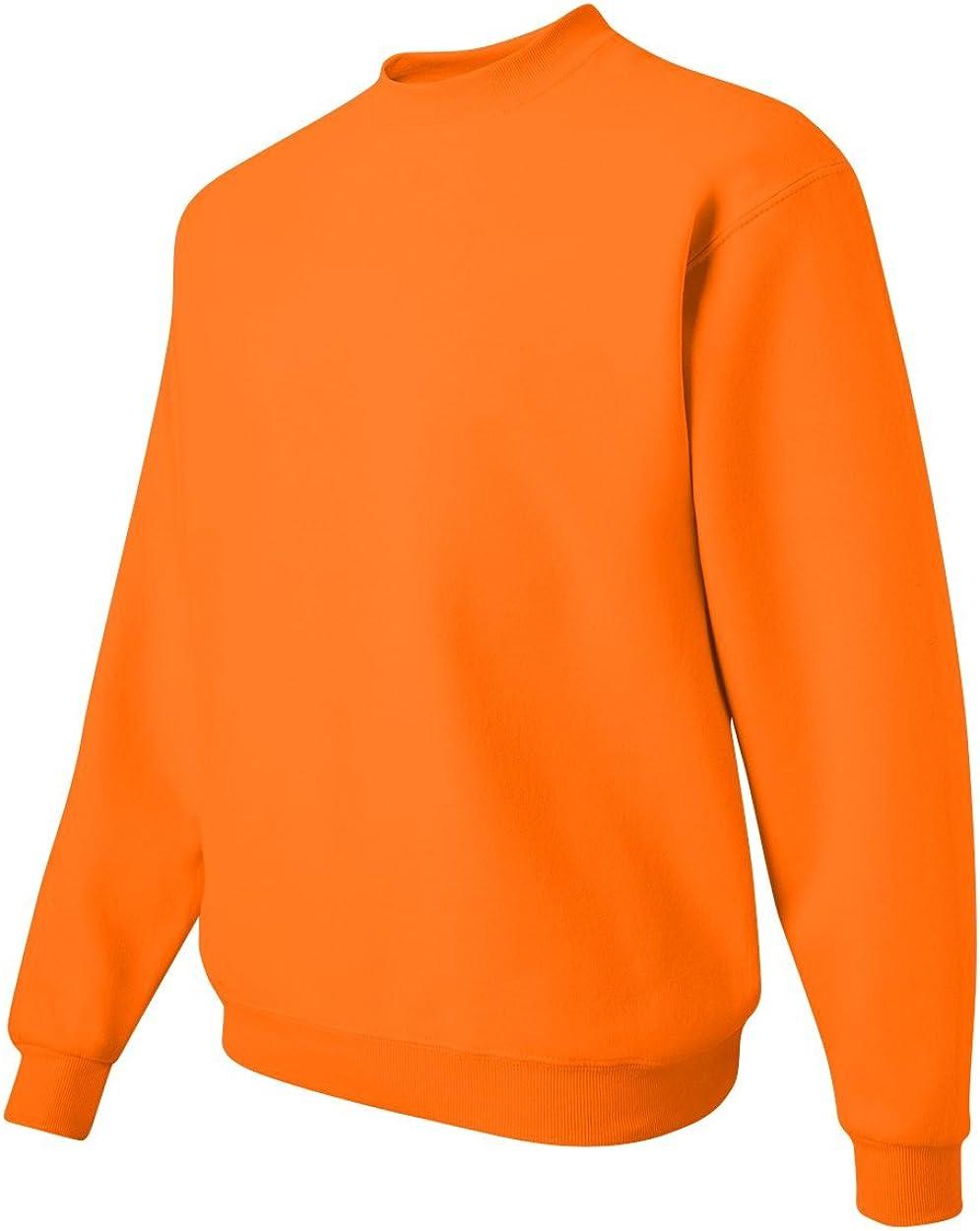 Jerzees - Sweat-shirt à col rond. Safety Orange