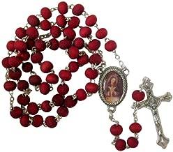 Gifts by Lulee, LLC Nuestra Senora De La Altagracia Rosario Hecho De Petalos De Rosa Con Tarjeta De Rezo Bendecida Por Su Santidad