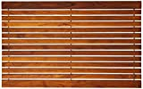 "Bare Decor COSI Shower Mat in Solid Teak Wood Oiled Finish, 31.5"" x 20"", Brown"