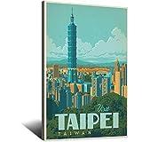 Vintage-Reise-Poster, Taiwan, Leinwand, Kunstdruck, Bild,
