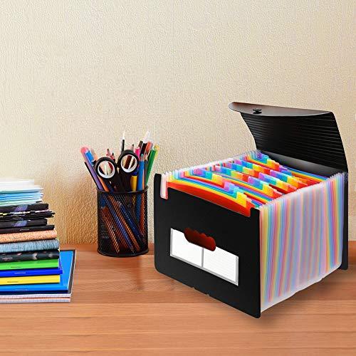 Accordian File Organizer, Expanding File Folder, 60 Pockets, Large Monthly/Weekly Expandable Plastic Accordian File Organize/Folder a-z, A4 Letter Size File Box, Portable Document Organizer Photo #6