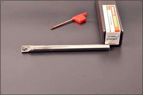2021 1pcs outlet sale C10K-STUCR11 CNC lathe solid carbide turning tool holder boring bar , Tungsten steel shock tool holder , Tungsten steel shock alloy Arbor , holder popular diameter 10 mm, holder total length 125 mm sale