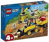 LEGO60252CityBuldócerdeConstrucciónJuguetedeConstrucciónparaNiñosyNiñas+4añoscon2MiniFiguras