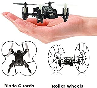 Top Race Micro-Drone Quadcopter de 4 canales con ruedas Fly Roll y Flip. TR-MQ3