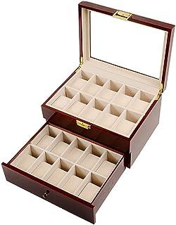 Watch 20 Compartment Watch Storage Organiser Holder Watch Box- 2 Layers, Fashion Watch (Color : 30 * 22 * 16.2 cm)