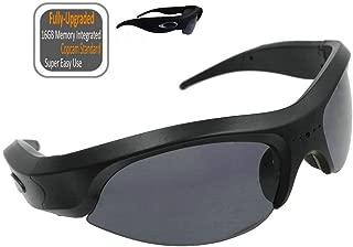 FocusHD 1080P Sunglasses Action Camera 16GB Memory Integrated, UV400 Anti-Impact Lens Video Eyewear Camcorder for Outdoor Sports