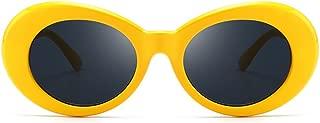 Vintage Oval Sunglasses Women Men Kurt Cobain Pop Hippie Sunglasses