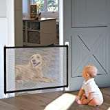Hundebarrieren, 110cm x 72cm Magic Gate Faltbar Hunde Türschutzgitter Tür- & Treppengitter für Babys, Hunde & Katzen