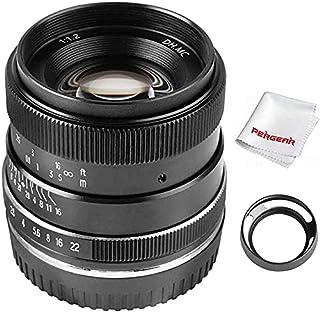 PERGEAR 35mm F1.2 大口径 単焦点レンズ 手動焦点固定レンズ Fuji X-T1 X-T2 X-T3 X-T4 X-T20 X-T30 X-Pro2 X-Pro3 X-E1 X-E2 E-E2s X-E3に対応 レンズフード同梱...