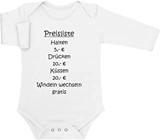 Shirtgeil Baby Preisliste - Drücken, Halten, Küssen, Windeln Baby Langarm Body