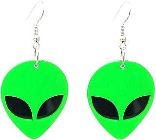 Baby Alien in the Park Dangle Earrings
