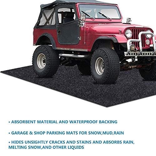 Parking Garage and Shop Floor Mats Under Cars,Wide Vehicle (Garage Floor Mat:9.55feet x 21feet)
