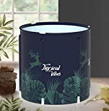 Portable Foldable Bathtub, Separate Family Bathroom SPA Tub, Soaking Standing Bath Tub for Shower Stall, Efficient maintenance of temperature, Ideal for Hot bath ice bath(A)