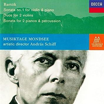 Bartók: Violin Sonata No. 1; Sonata for 2 Pianos & Percussion; 10 Duos