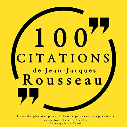 Couverture de 100 citations de Jean-Jacques Rousseau