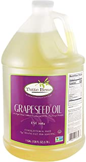 Tutto Bene Premium Quality Grapeseed Oil - 1 Gallon (128 ounces), for Cooking With 0% Trans Fat for Healthy Living - Chole...