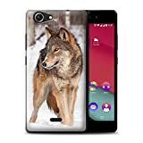 Hülle Für Wiko Pulp Fab 4G Wilde Tiere Wolf Design