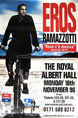Eros Empire Interactive - Poster con immagine di RAMAZZOTTI RIESEN TOURPOSTER Dove C'E Musica Tour London 1996 Ramazotti - Poster Dovè Ce Musica