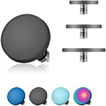 West Coast Jewelry Surgical Steel Over Titanium Anodized Internally Threaded Flat Disc Dermal Top (Sold Ind.)