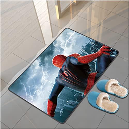 Spiderman Tapis Marvel Dessin Animé Salon Table Basse Chambre Chevet Étude Vestiaire Couloir Porte D'Entrée Tapis Rectangulaire Tapis Anti-Dérapant