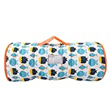 Toddler Nap Mat with Pillow and Blanket, Fleece 50' x 21' x 1.5' Super Soft and Warm, Children's Sleeping Bag with Removable Pillow for Preschool, Roll up Bed for Boys and Girls