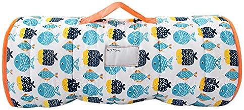 Biloban Toddler Nap Mat with Pillow and Blanket, Fleece 50