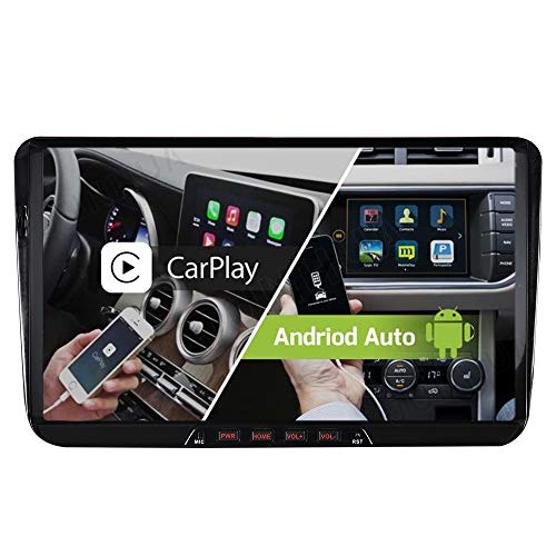 9 Zoll Android 10 Dual Tuner Carplay Android Auto 32GB GPS Autoradio Navi für V W Passat Golf 5 6 Polo Touran Tiguan Multivan Transporter T5 Octavia Unterstützt Bluetooth 5.0 DAB WiFi OBD ROHM DSP