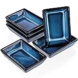 6 ciotole rettangolari per salsa 8,8 x 6,2 x 2,3 cm, colore blu (Kinki)