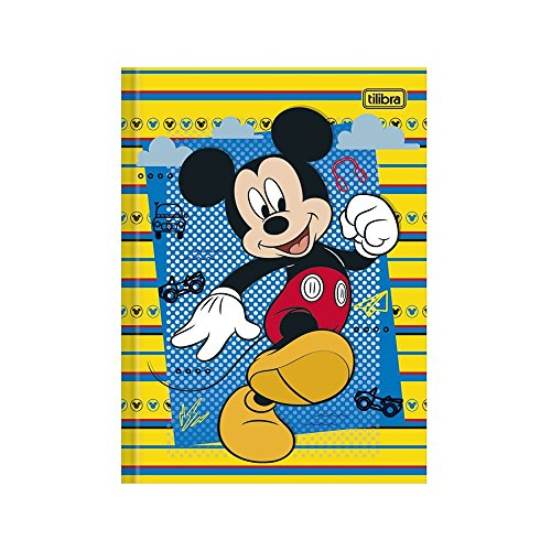 Caderno Brochura 1/4 Mickey Capa Dura 96 Folhas Tilibra