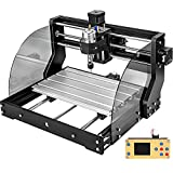 VEVOR Upgrade CNC 3018 Pro Max 3 Axis GRBL Control CNC Machine Wood Router Engraver with Offline Controller 5mm ER11 PCB and 10PCS 3.175mm + 4 Sets CNC Plates + ER11 Collet Set for Plastic Acrylic PVC