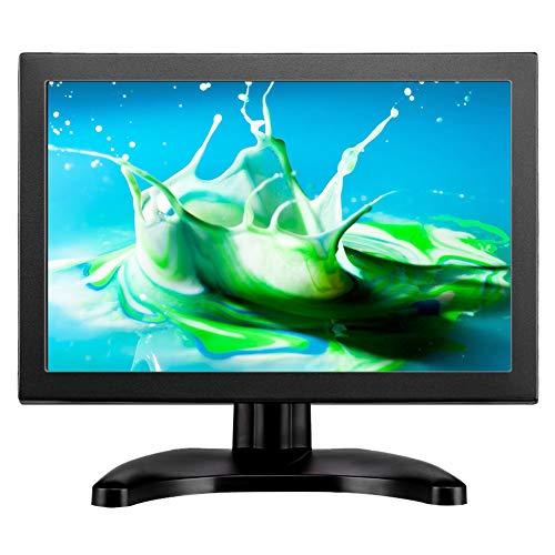 Eyoyo 10 Zoll Monitor, IPS 1920x1200P HD Display HDMI/BNC/AV/VGA/USB Eingang 4:3 Seitenverhältnis Eingebauter Lautsprecher Durable Metallschlauch Dual Screen für Überwachungssystem, CCTV Kamera NVR