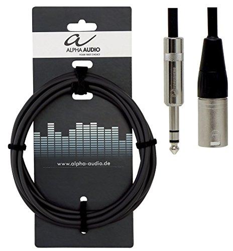 Alpha Audio 190717 Pro Line Symmetrische Audioverbindung-Kabel (6 m, Stereoklinke auf XLR)