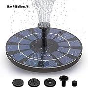 JOKOO Solar Fountain Pump, 1.4W Water Pump Solar Panel Birdbath, Solar Powered Fountain Pump Circle, Floating Pump for Pond, Fountain, Bird Bath, Fish Tank, Garden Decoration, Water Cycling 160L/H