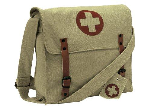 Rothco Vintage Medic Canvas Bag With Cross, Khaki