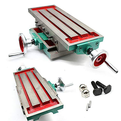 Aohuada 2-Achse Kreuztisch Frästisch Fräsmaschine Koordinatentisch für Bohrtisch Milling Kreuzsupport für Präzises Bohren und Fräsen