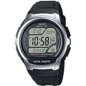 """[カシオ] 腕時計 ウェーブセプター 電波時計 スーパーイルミネータータイプ(高輝度なLEDライト) WV-58R-1AJF メンズ ブラック"""""""