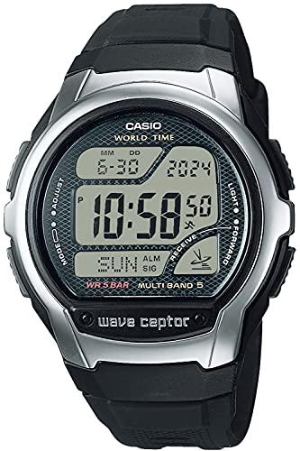 [カシオ] 腕時計 ウェーブセプター 電波時計 スーパーイルミネータータイプ(高輝度なLEDライト) WV-58R-1AJF メンズ ブラック