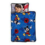 Disney Mickey Mouse Blue & Grey Toddler Nap Mat, Blue, Grey, Red, (5848392P)